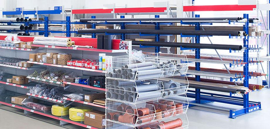 lagerflex der spezialist f r regale lagereinrichtungen und kragarmregale lagerflex. Black Bedroom Furniture Sets. Home Design Ideas